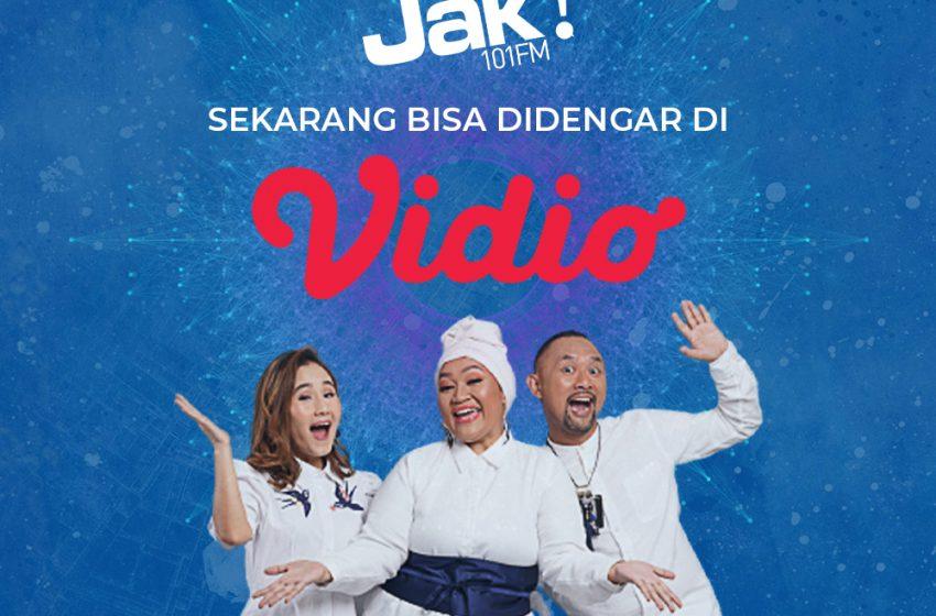 Dengerin Jak 101 FM via vidio.com