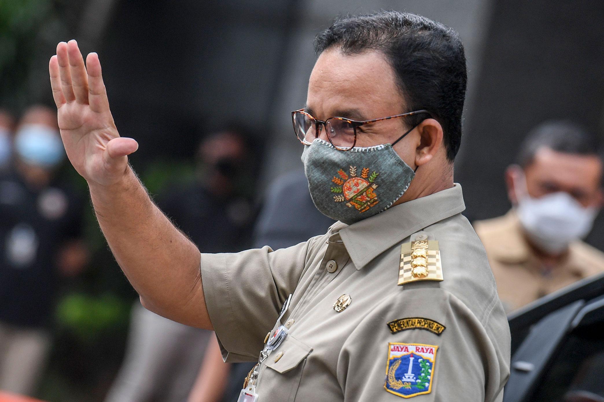 Gubernur DKI JakartaAnies Baswedan dinyatakan telah NegatifCovid-19