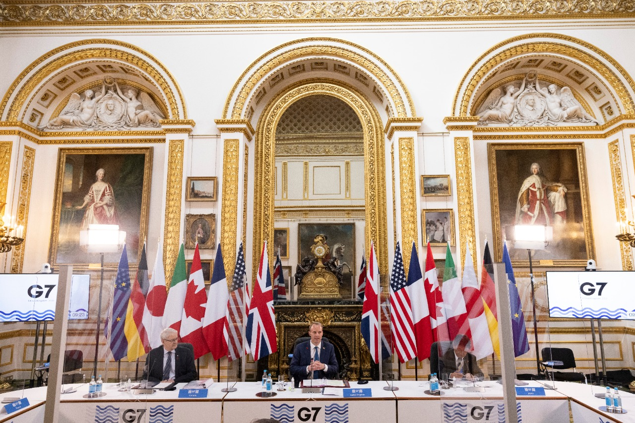 Menteri Luar Negeri Dominic Raab menjadi tuan rumah pertemuan para pemimpin asing G7