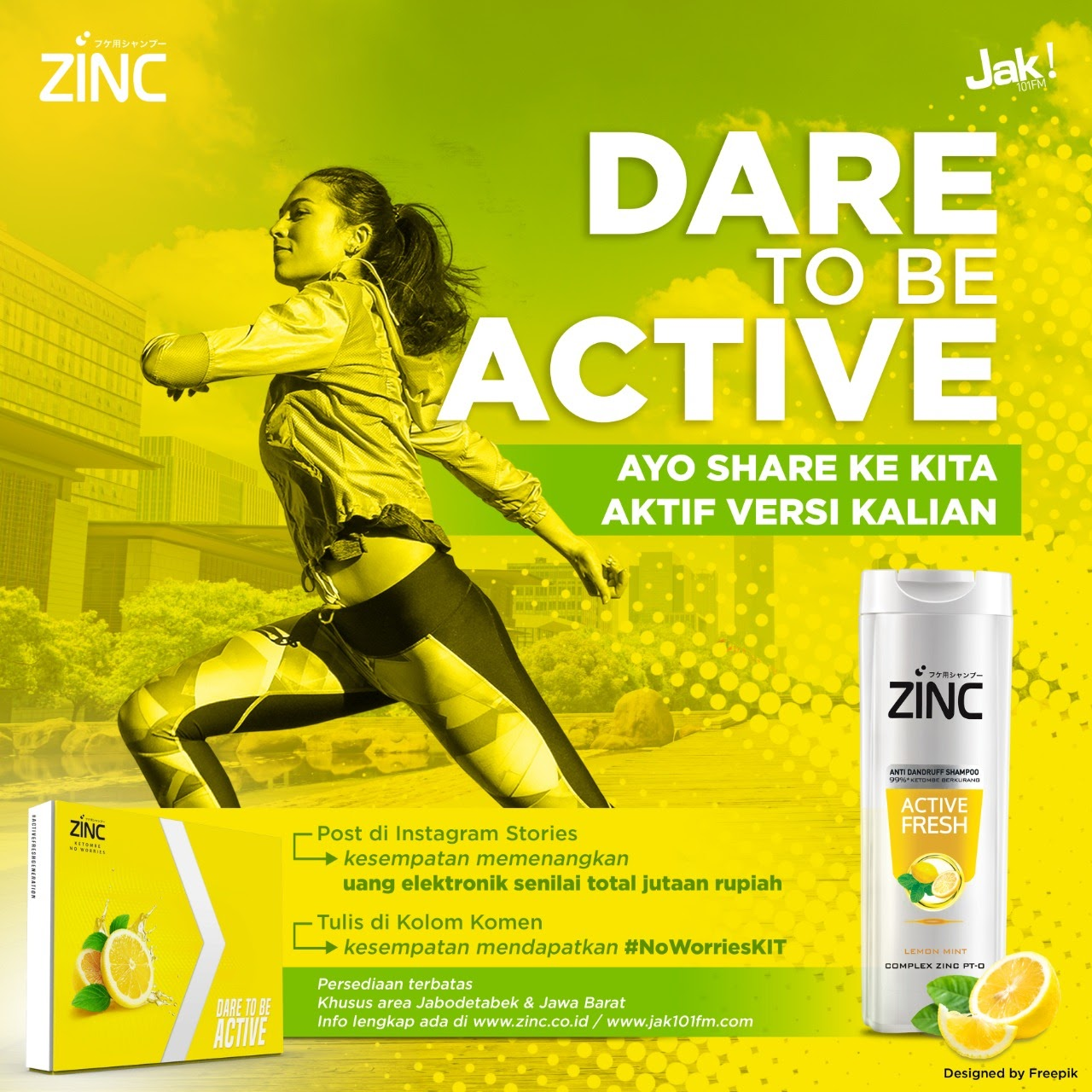 Terms and Condition ZINC Dare To Be Active