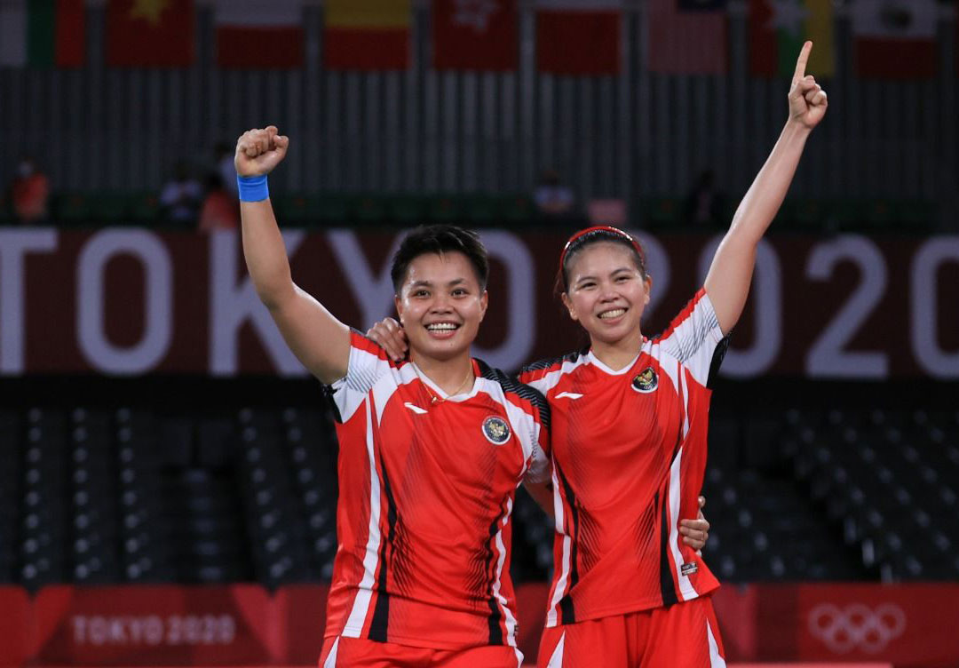 Greysia Polii/Apriyani Rahayu, medali emas bagi Indonesia